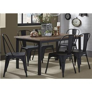 Liberty Furniture Vintage Dining Series 7-Piece Table and Chair Set