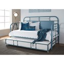 Liberty Furniture Vintage Series Twin Metal Daybed with Trundle - Item Number: 179-BR-DAY-BL