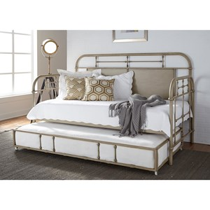 Liberty Furniture Vintage Series Twin Metal Daybed with Trundle