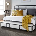 Liberty Furniture Vintage Series Twin Metal Daybed with Trundle - Item Number: 179-BR11TB-B+T-B
