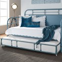 Liberty Furniture Vintage Series Twin Metal Daybed with Trundle - Item Number: 179-BR11TB-BL+T-BL