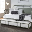 Liberty Furniture Vintage Series Twin Metal Daybed with Trundle - Item Number: 179-BR11TB-G+T-G