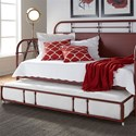 Liberty Furniture Vintage Series Twin Metal Daybed with Trundle - Item Number: 179-BR11TB-R+T-R