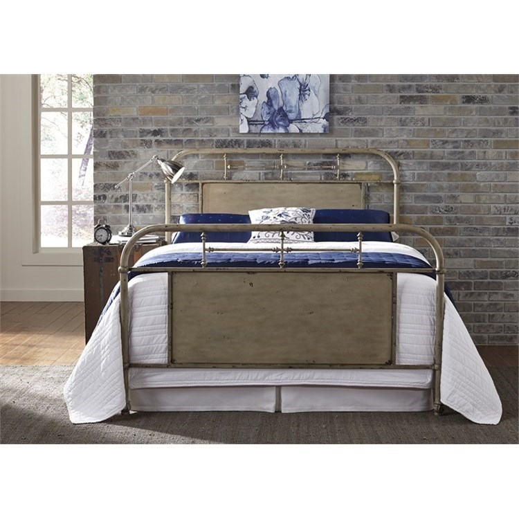 Vintage Series Queen Metal Bed by Liberty Furniture at Story & Lee Furniture
