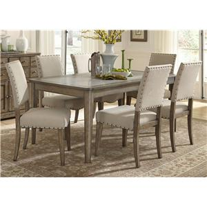 Vendor 5349 Weatherford  7 Piece Dining Table and Chairs Set