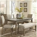 Liberty Furniture Weatherford  Rustic Casual Rectangular Leg Table with Concrete Insert