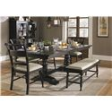Liberty Furniture Whitney 6 Piece Trestle Table Set  - Item Number: 661-CD-SET124