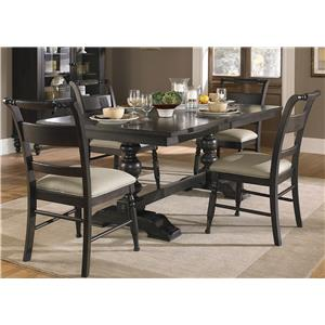 Liberty Furniture Whitney 5 Piece Trestle Table Set