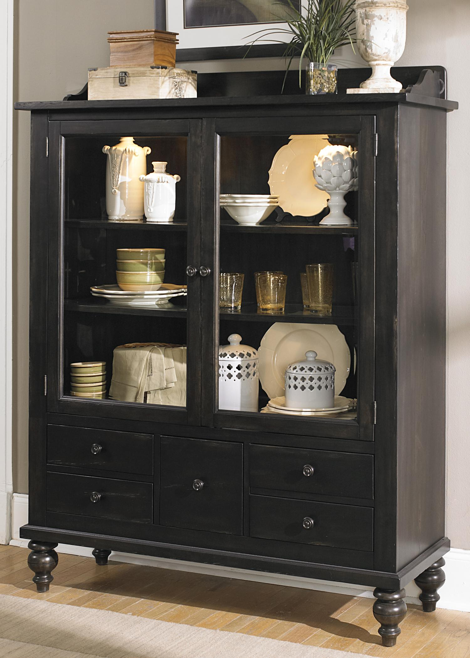 Liberty Furniture Whitney Display Cabinet With 5 Drawers