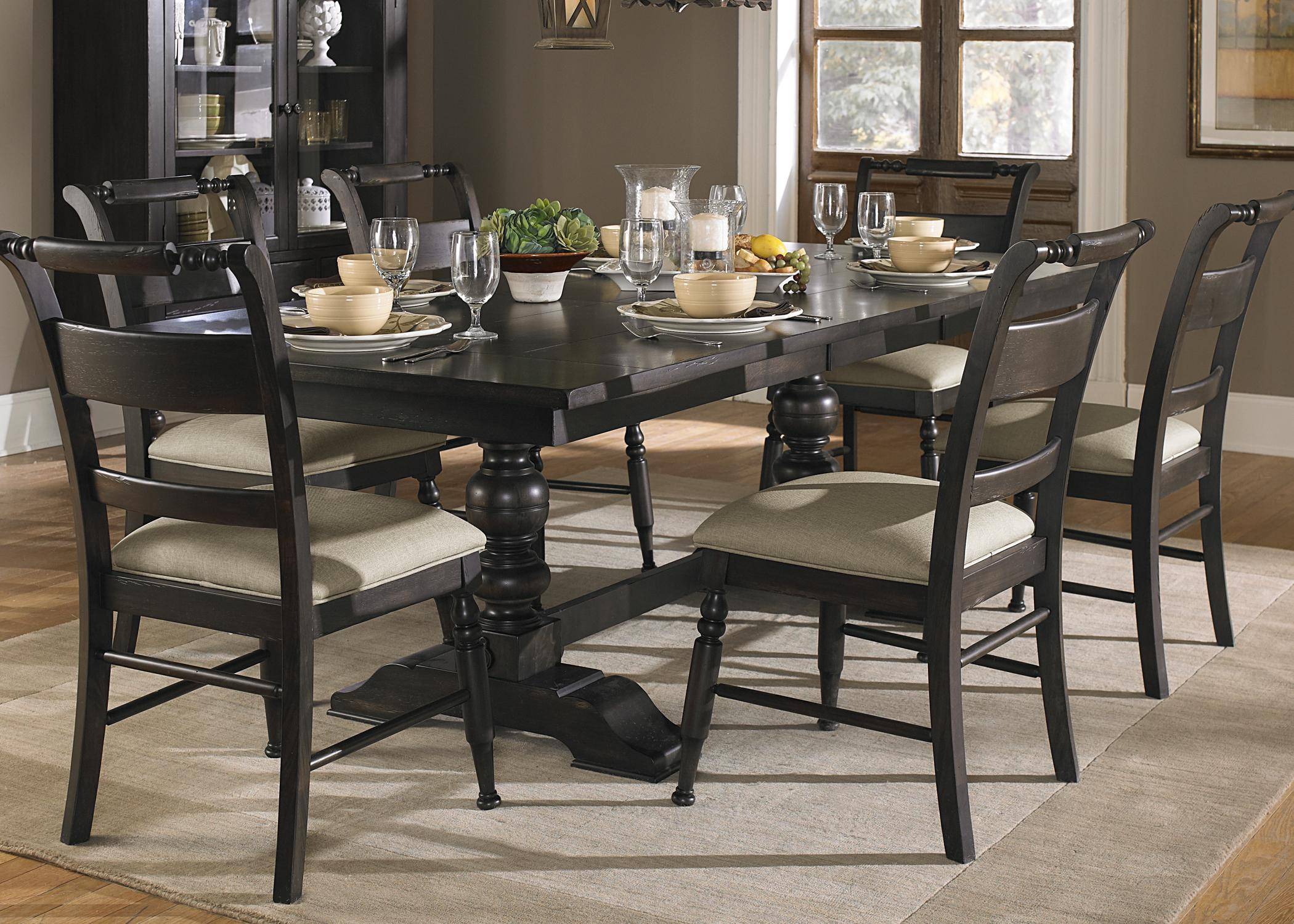 Liberty Furniture Whitney Trestle Table With Carved Base