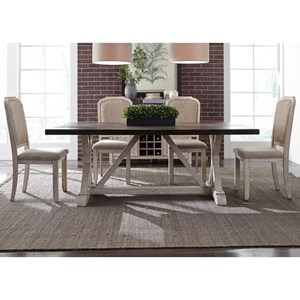 Vendor 5349 Willowrun 5-Piece Trestle Table Set