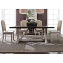 Liberty Furniture Willowrun 5-Piece Trestle Table Set  - Item Number: 619-DR-5TRS