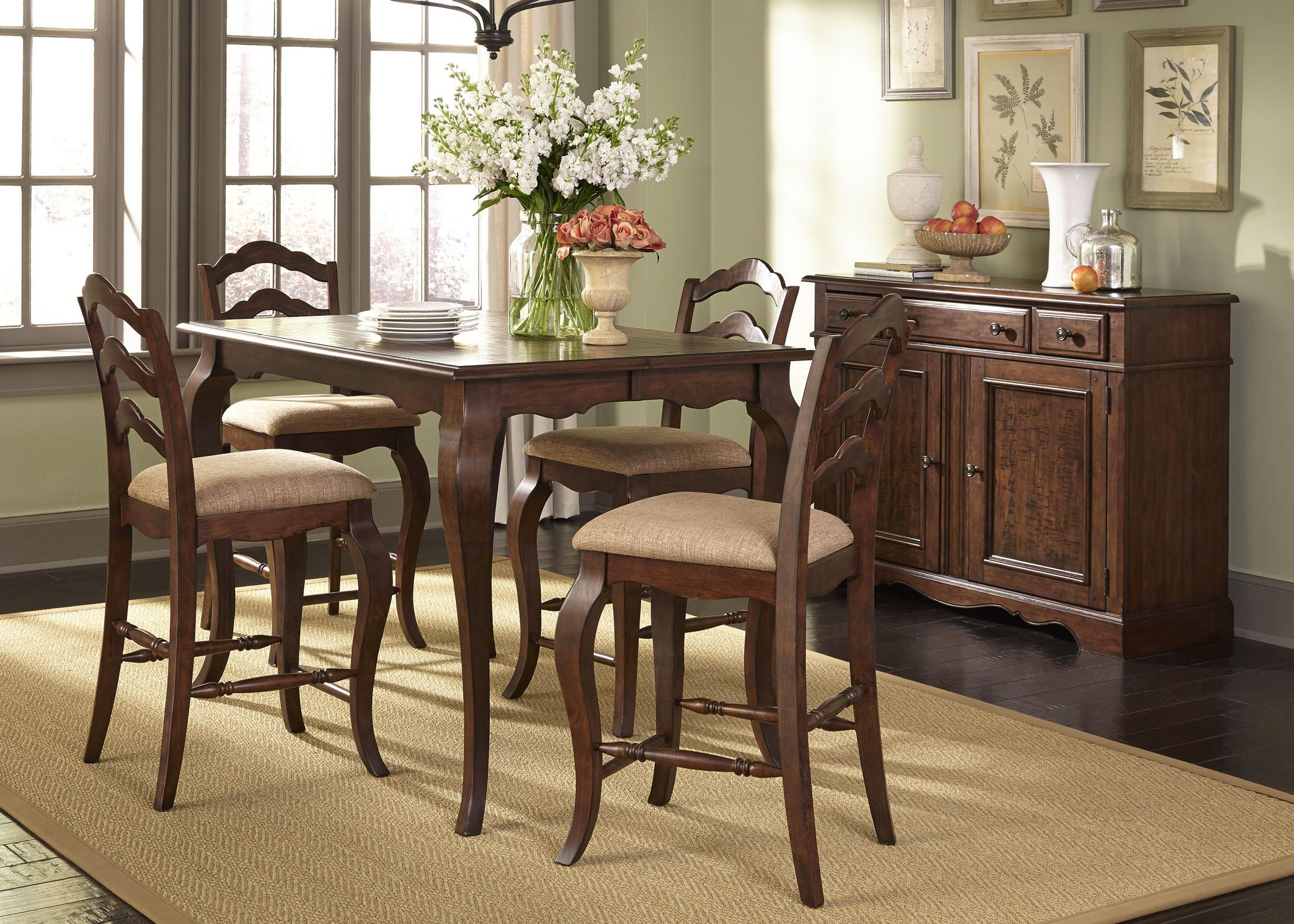 Liberty furniture woodland creek casual dining room group for Casual dining room