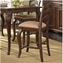 Liberty Furniture Woodland Creek  Ladder Back Counter Chair - Item Number: 606-B200124