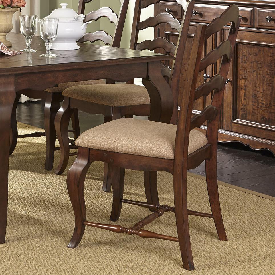 Liberty Furniture Woodland Creek  Ladder Back Side Chair - Item Number: 606-C2001S