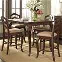 Liberty Furniture Woodland Creek  Gathering Height Table and Chair Set - Item Number: 606-GT5454+4xB200124