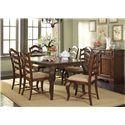 Vendor 5349 Woodland Creek  Transitional 7 Piece Dining Table and Chair Set