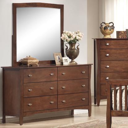 Lifestyle Rake Dresser and Mirror - Item Number: B0110-40+50
