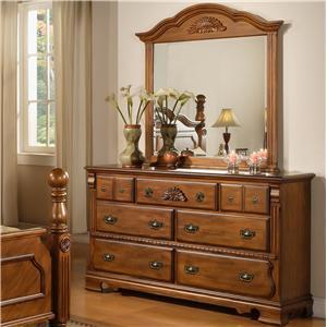 Lifestyle 0132A Dresser w/ Mirror