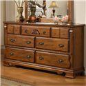 Lifestyle 0132A Dresser w/ 7 Drawers
