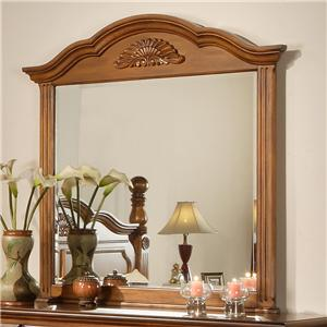 Lifestyle 0132A Dresser Mirror w/ Reeded Columns