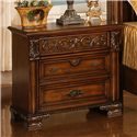Lifestyle 0185 Traditional Cherry 3-Drawer Nightstand