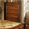 Lifestyle 0185 Traditional Cherry 5-Drawer Chest