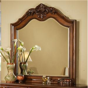 Lifestyle 0185 Traditional Cherry Arched Landscape Dresser Mirror