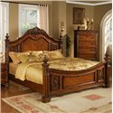 Lifestyle 0185 King Traditional Cherry Panel Bed - Bed Shown May Not Represent Size Indicated
