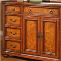 Lifestyle 0243 9 Drawer Dresser with Acanthus Leaf Mirror - Veneered Drawer and Door Fronts