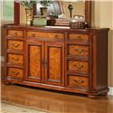 Lifestyle 0243 9 Drawer Dresser with 2 Doors and Case Molding