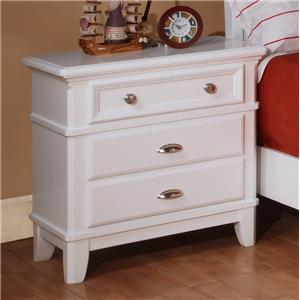 Lifestyle 1111 Casual White 3-Drawer Nightstand