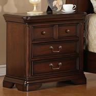 Lifestyle 1130 Bedroom 3-Drawer Cherry Transitional Nightstand