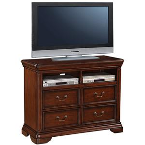 Lifestyle 1130 Bedroom Traditional Media Chest with Component Storage Shelves