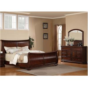 Lifestyle 1130 Bedroom Transitional 5-Piece Bedroom Group with California King Sleigh Bed