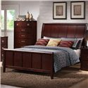Lifestyle 1173 Queen Bed w/ Sleigh Headboard - Bed Shown May Not Represent Size Indicated
