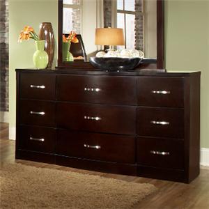 Lifestyle 1174 Bedroom Dark Espresso 9-Drawer Dresser