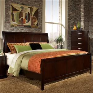 Lifestyle 1174 Bedroom California King Contemporary Espresso Panl Bed