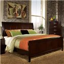 Lifestyle 1174 Bedroom California King Contemporary Espresso Panl Bed - Bed Shown May Not Represent Size Indicated
