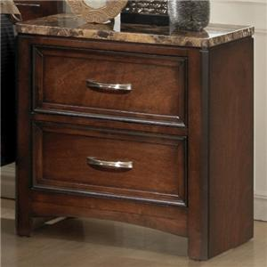 Lifestyle 1187 Night Stand w/ Marble Top