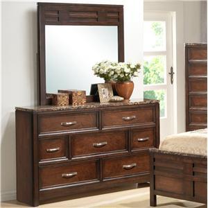 Lifestyle 1187 Drawer Dresser w/ Mirror