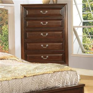 Lifestyle 1192 Transitional Cherry 5-Drawer Chest
