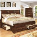 Lifestyle 1192 Queen Panel Bed  - Item Number: C1192A-QX0+TG+XJ+BTN+MXS