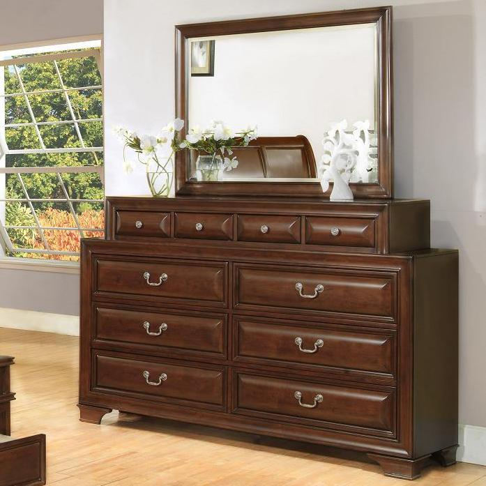 Lifestyle 1192 Dresser and Mirror - Item Number: C1192A-040-10DCH+050-MBCH