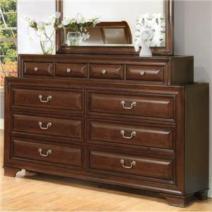 Lifestyle 1192 Transitional 10 Drawer Dresser