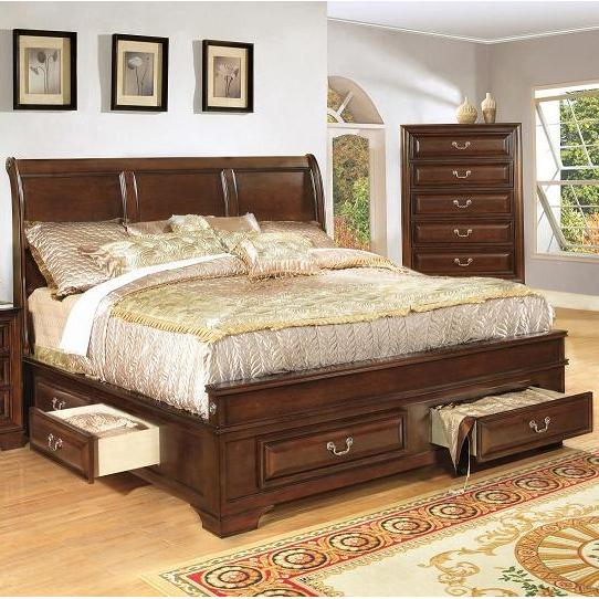 Lifestyle 1192 Queen Panel Bed with Storage - Item Number: C1192A-QXO+QTG+QXJ+BTN+MXS
