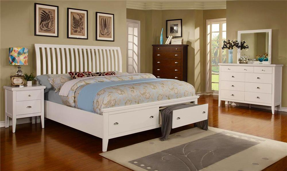 Lifestyle Jillian 4PC Queen Storage Bed Set - Item Number: C4135-QSB+040+050+020
