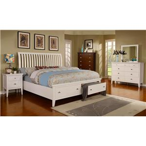 Lifestyle Jillian 4PC Queen Storage Bed Set