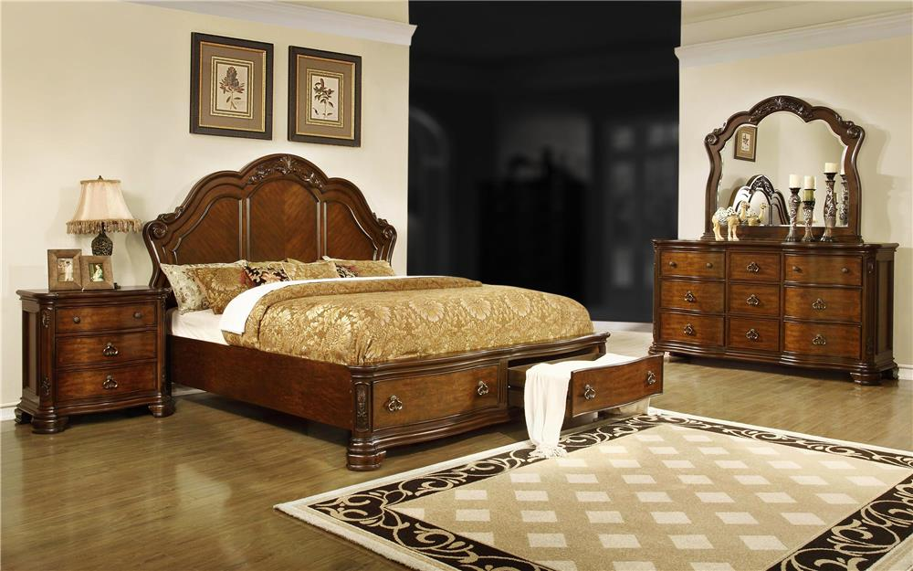 Lifestyle St. Charles 4-Piece Queen Storage Bedroom Set - Item Number: C5390A-4PC-QBR