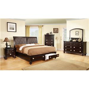 Lifestyle C2175A Bedroom 4pc Queen Storage Bedroom Group